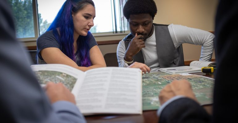 Student working on Muskogee Master Plan