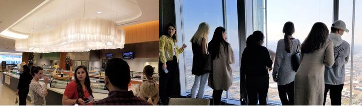 Interior Design Students Tour Devon Tower