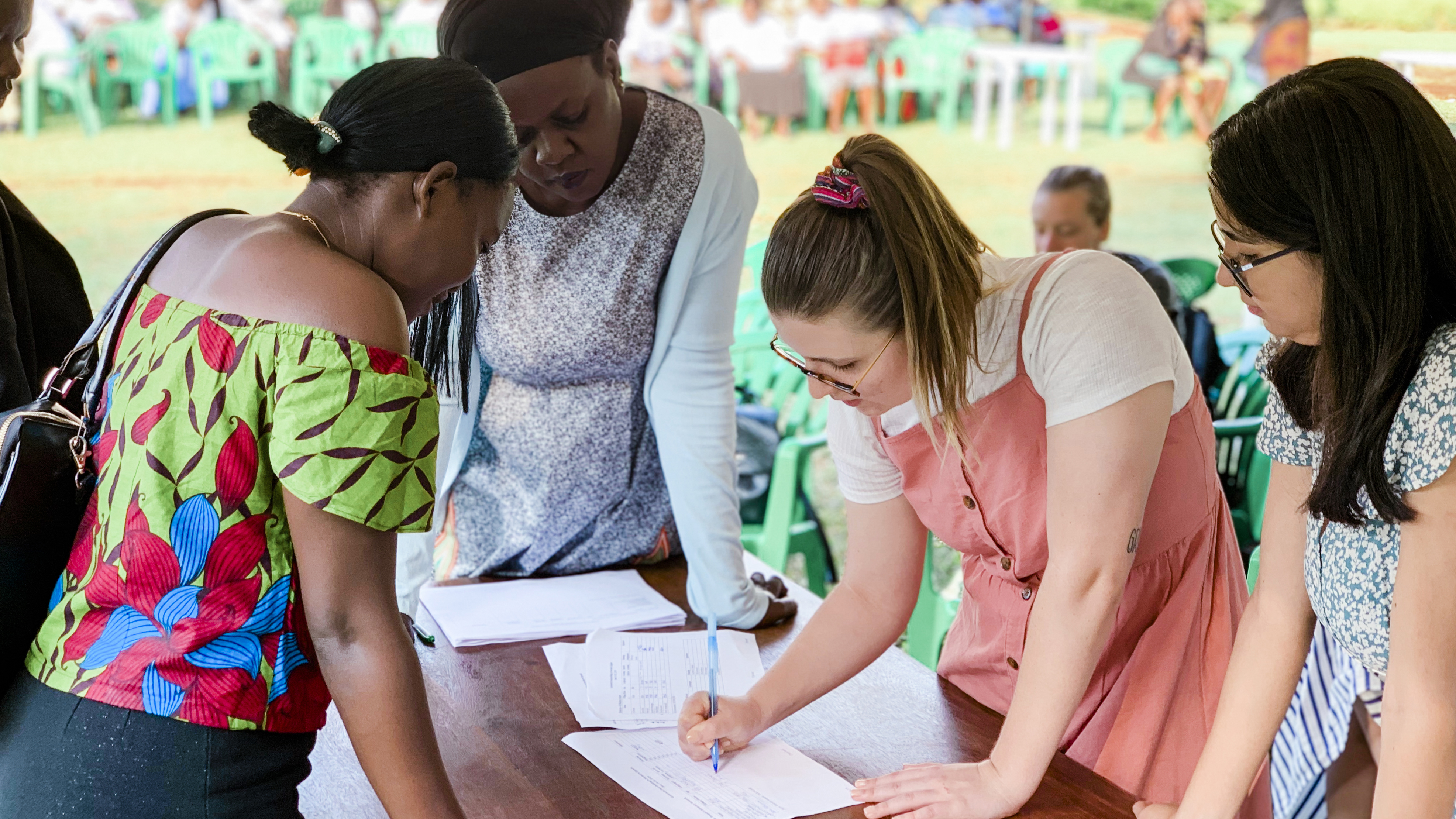 Students from the University of Oklahoma help with a peacebuilding conference in Uganda as part of an ongoing partnership between the OU Center for Peace and Development and local women's organizations in Uganda.