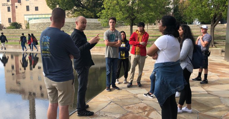 Master of Landscape Architecture Students tour Oklahoma City National Memorial