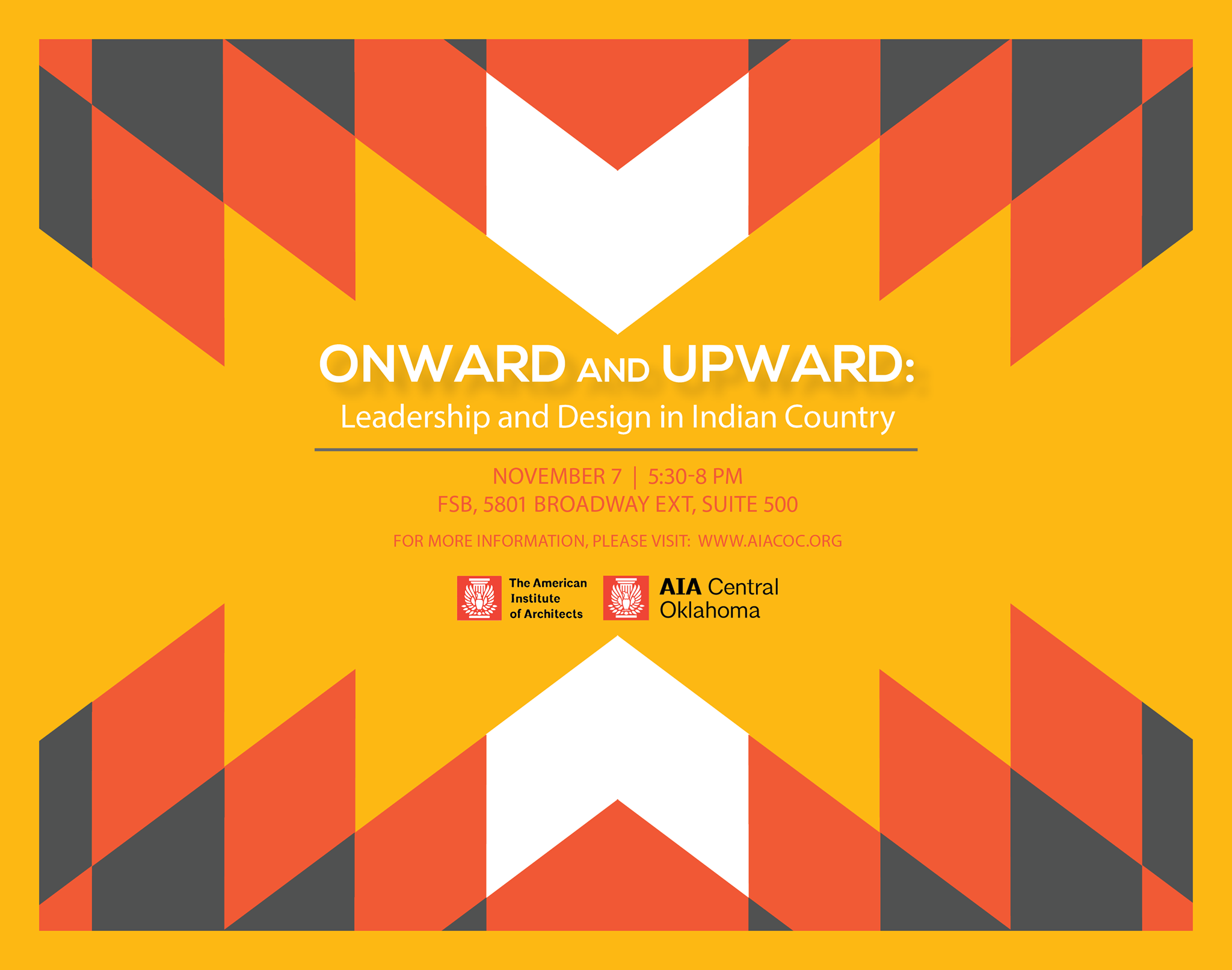 Onward and Upward: Leadership and Design in Indian Country, event flyer